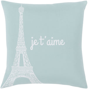 Motto Pillow Kit - Ice Blue, White - Down - MTT007