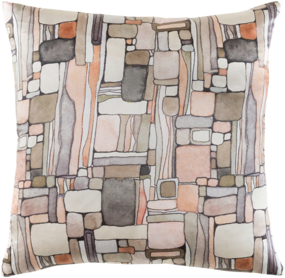 Natural Affinity Pillow Cover - Cream, Peach, Ivory, Tan, Sage, Charcoal - NTA004