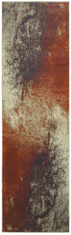 1334E Pasha Indoor Area Rug Beige/Orange