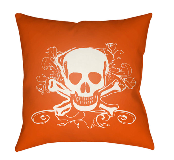 Punk Pillow Cover - White, Bright Orange - PK005