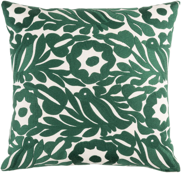 Pallavi Pillow Kit - Cream, Dark Green - Down - PLV002