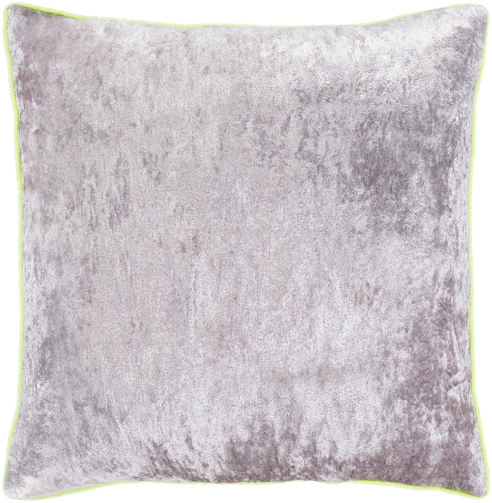 Pixel Pillow Cover - Medium Gray, Bright Yellow - PXL002