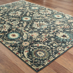 022K5 Raleigh Indoor Area Rug Navy/ Ivory