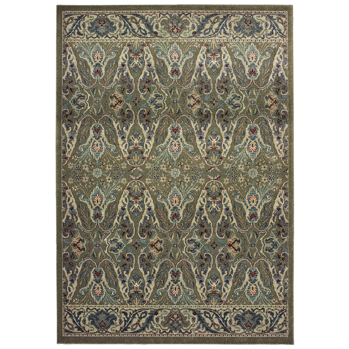 655Q5 Raleigh Indoor Area Rug Brown/ Ivory