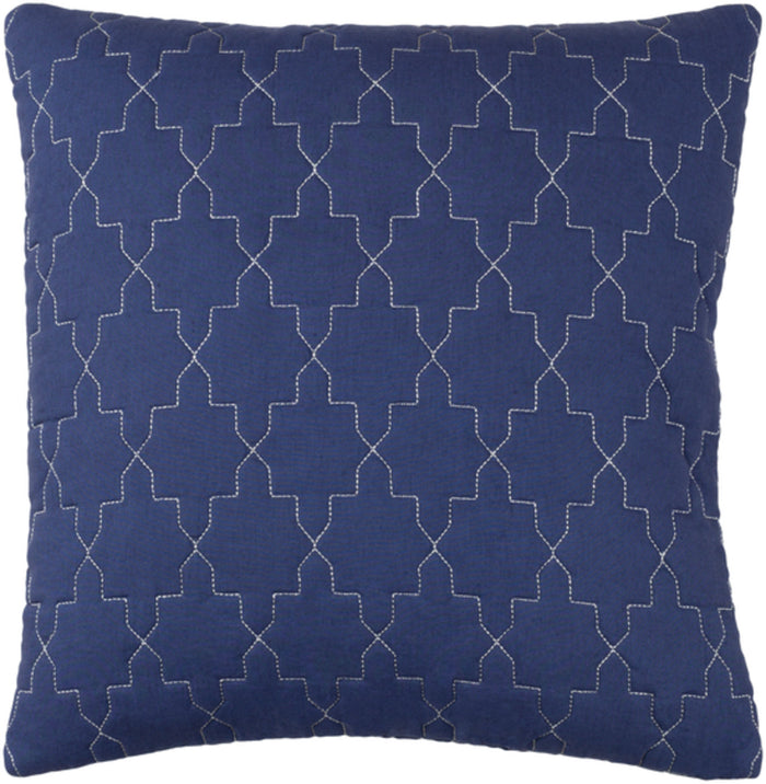Reda Pillow Kit - Navy, Metallic - Silver - Down - RD002