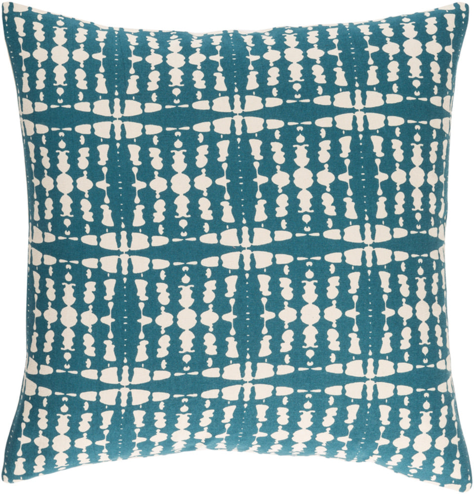 Ridgewood II Pillow Cover - Teal, Cream - RDW001 - ReeceFurniture.com