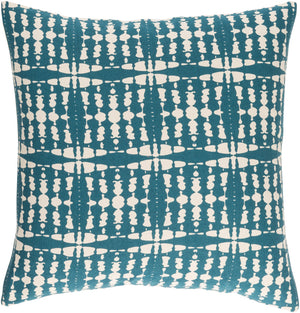 Ridgewood II Pillow Cover - Teal, Cream - RDW001