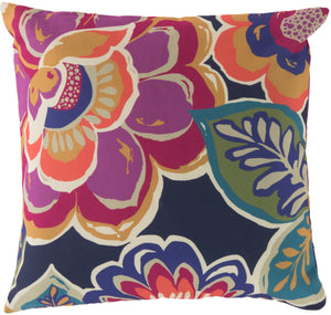 Rain Pillow Cover - Dark Purple, Violet, Navy, Fuschia, Sky Blue, Mustard, Bright Orange, Grass Green, Teal - RG006