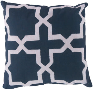 Rain Pillow Cover - Navy, Beige - RG009