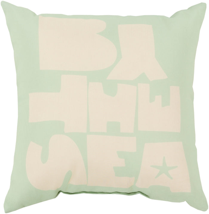 Rain Pillow Cover - Mint, Ivory - RG075