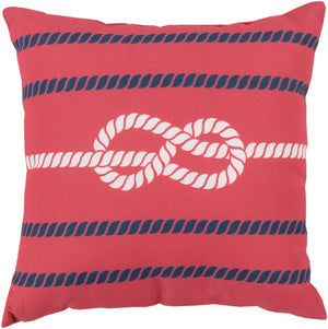 Rain Pillow Cover - Bright Red, Navy, Blush - RG080