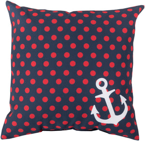 Rain Pillow Cover - Navy, Bright Red, Ivory - RG125