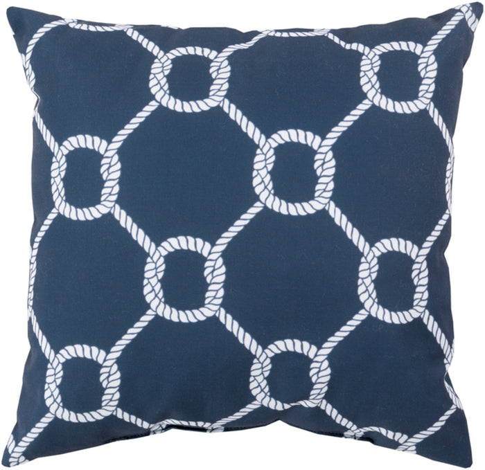 Rain Pillow Cover - Navy, Ivory - RG146