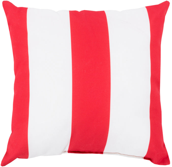 Rain Pillow Cover - Bright Red, Ivory - RG160