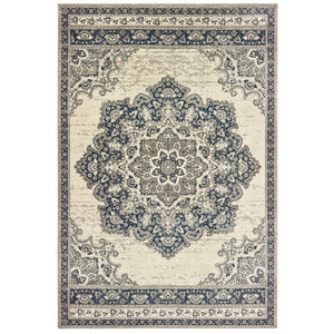 5504I Richmond Indoor Area Rug Ivory/ Navy