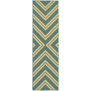 4589A Riviera Indoor/Outdoor Rug Blue/Ivory