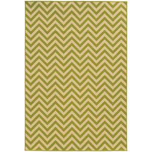 4593K Riviera Indoor/Outdoor Rug Green/Ivory