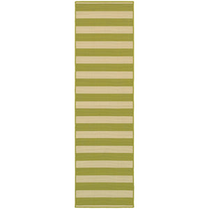 4768E Riviera Indoor/Outdoor Rug Green/Ivory