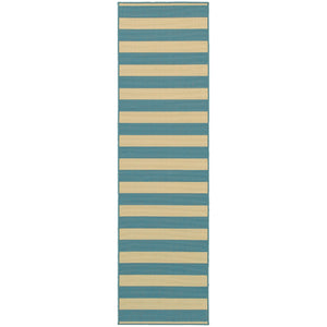 4768G Riviera Indoor/Outdoor Rug Blue/Ivory