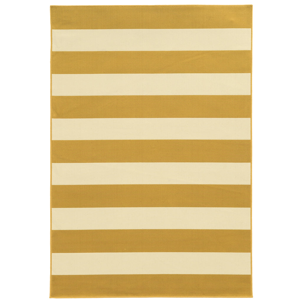 4768K Riviera Indoor/Outdoor Rug Gold/Ivory
