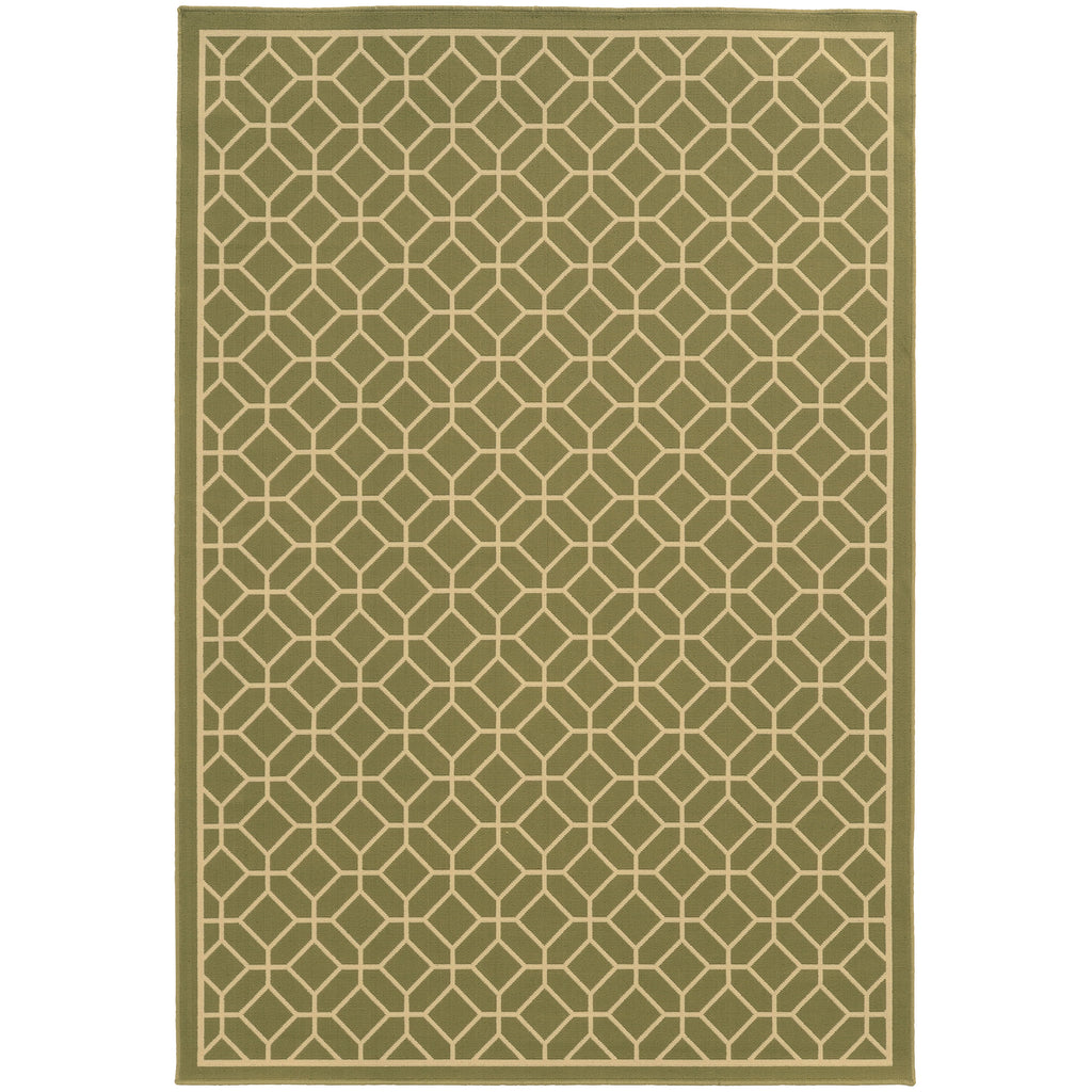 4771B Riviera Indoor/Outdoor Rug Green/Ivory
