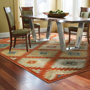 5936D Sedona Indoor Area Rug Red/Multi