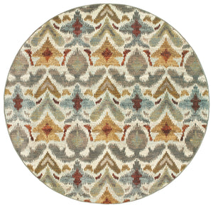6371C Sedona Indoor Area Rug Ivory/Grey