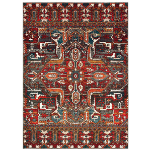 9575A Sedona Indoor Area Rug Red/ Orange