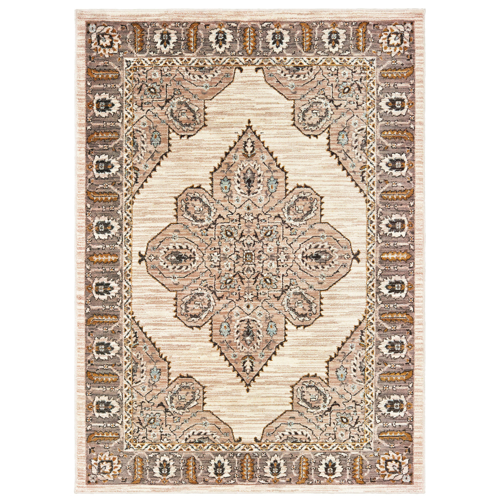 9588D Sedona Indoor Area Rug Ivory/ Gold - ReeceFurniture.com