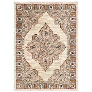 9588D Sedona Indoor Area Rug Ivory/ Gold