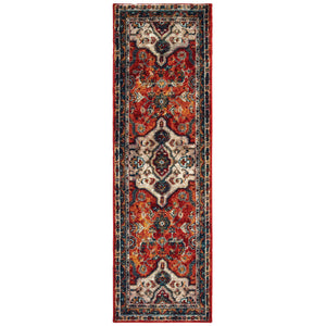 9589A Sedona Indoor Area Rug Orange/ Blue