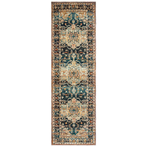 9592B Sedona Indoor Area Rug Blue/ Gold