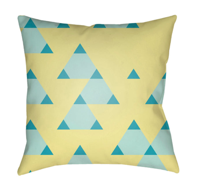 Scandanavian Pillow Cover - Bright Yellow, Sky Blue, Mint - SN010