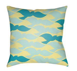 Scandanavian Pillow Cover - Bright Yellow, Sky Blue, Mint - SN014