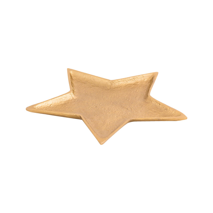 STAR001 - Aluminum Star Tray in Electroplated Brass - Small