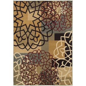 6021B Stratton Indoor Area Rug Multi/Gold - ReeceFurniture.com
