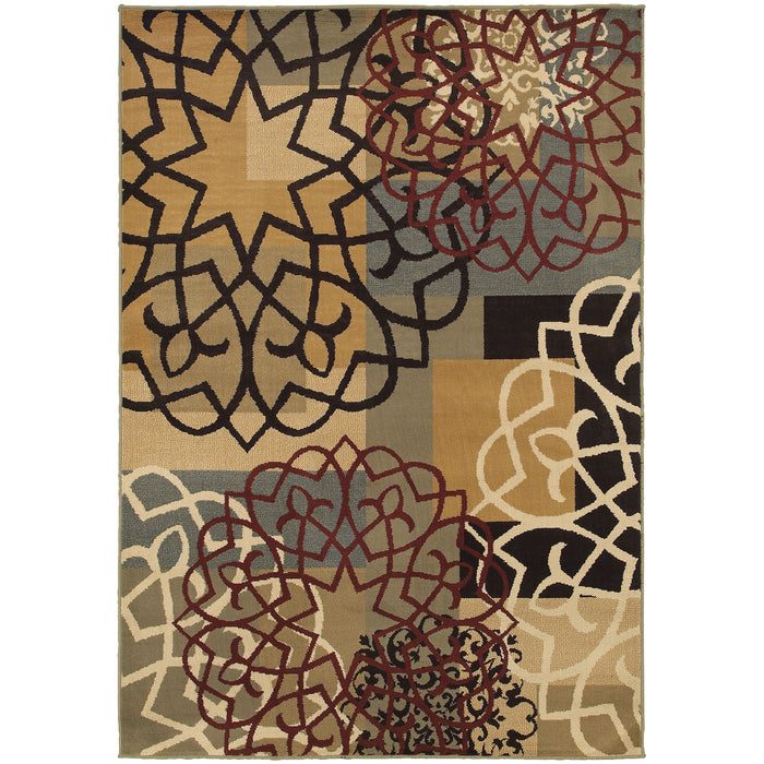 6021B Stratton Indoor Area Rug Multi/Gold