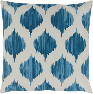 Ogee Pillow Cover - Bright Blue, Sky Blue, Cream - SY048
