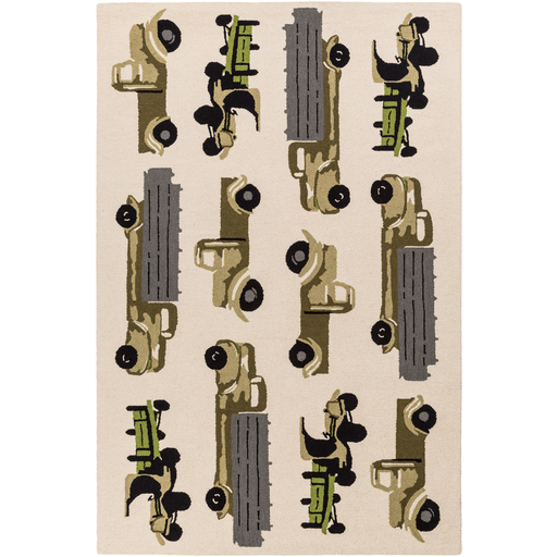 Surya Floor Coverings - TCT6005 Tic Tac Toe Area Rugs/Runners