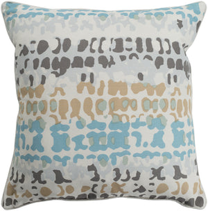 Technicolor    Pillow Kit - Aqua, Wheat, Sea Foam, Ivory, Light Gray, Medium Gray - Down - TEC008