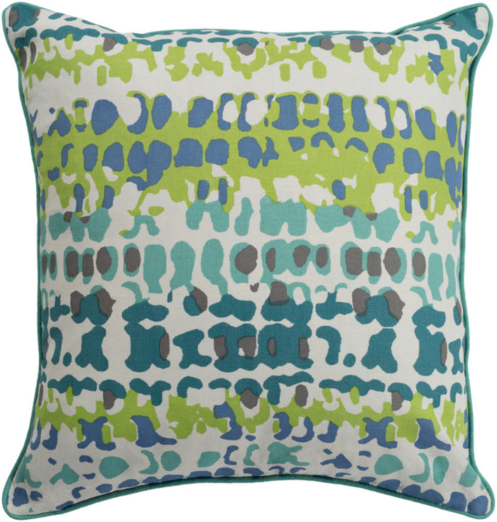 Technicolor    Pillow Kit - Teal, Mint, Lime, Ivory, Dark Blue, Medium Gray - Down - TEC010