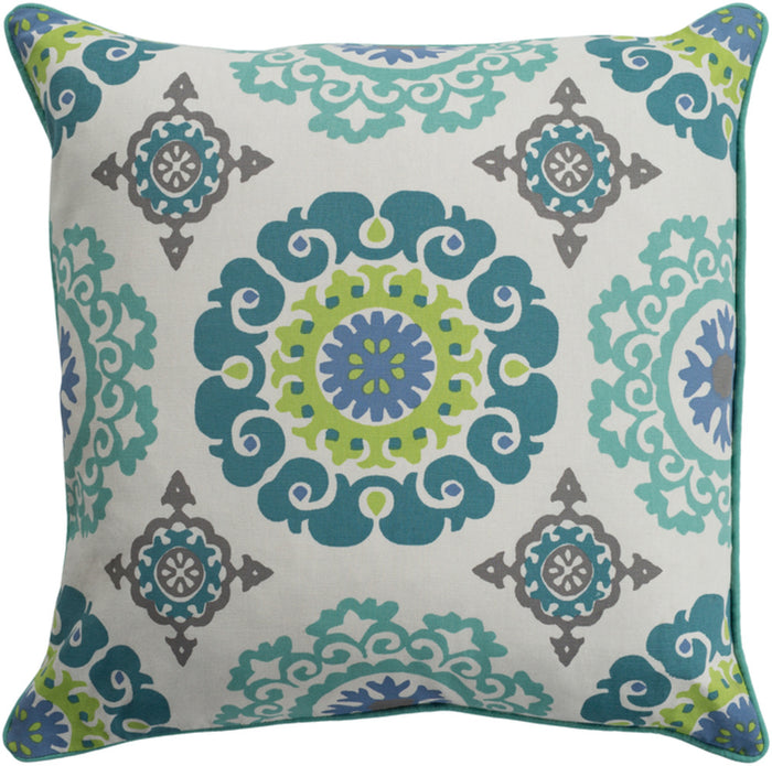 Technicolor    Pillow Kit - Mint, Teal, Ivory, Denim, Lime, Medium Gray - Poly - TEC012