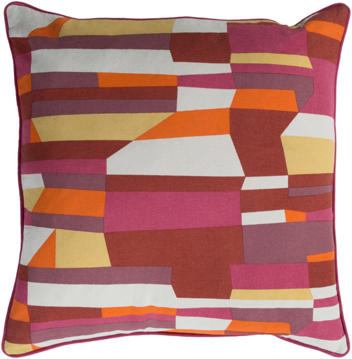 Technicolor    Pillow Cover - Bright Pink, Burnt Orange, Mauve, Bright Orange, Bright Yellow, Khaki - TEC015