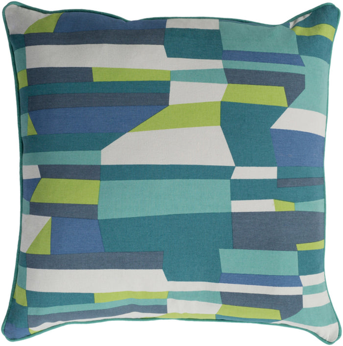 Technicolor    Pillow Kit - Teal, Lime, Khaki, Denim, Charcoal - Poly - TEC016