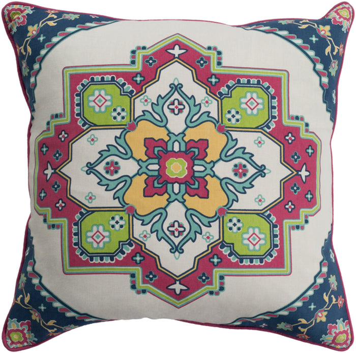Technicolor    Pillow Kit - Dark Coral, Navy, Aqua, Ivory, Lime, Bright Yellow - Down - TEC022