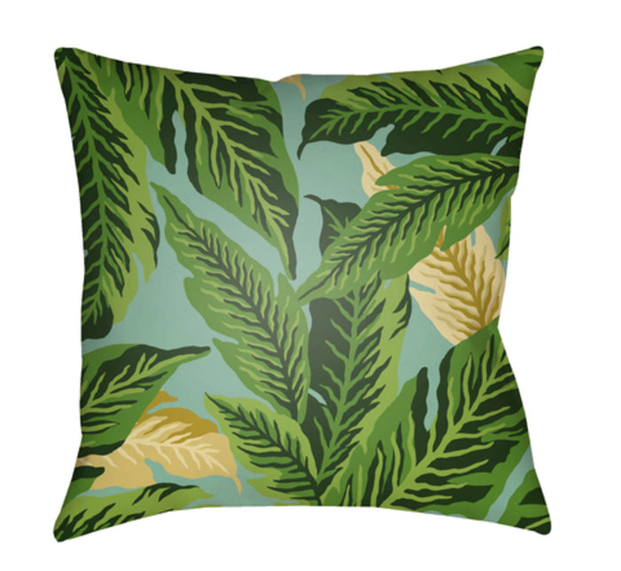 Tropical Pillow Cover - Dark Green, Lime, Mint - TP001