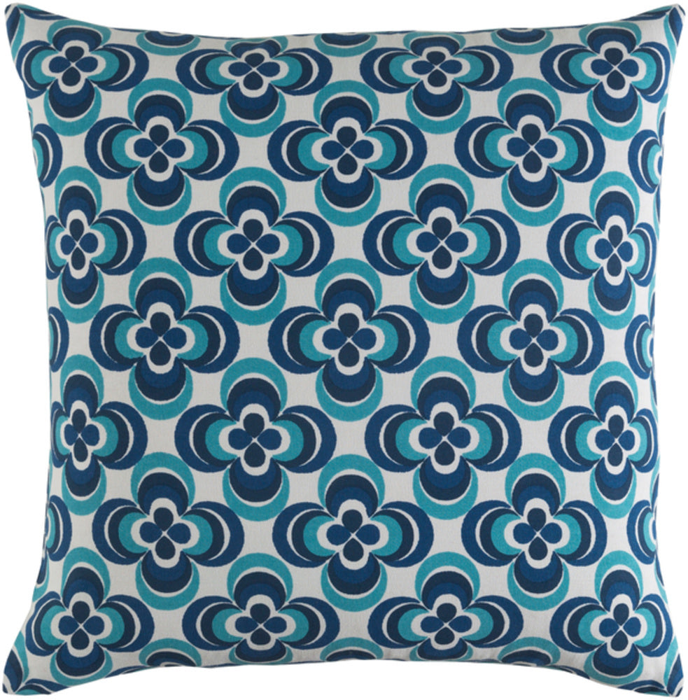 Trudy Pillow Kit - Teal, Dark Blue, Navy, White - Down - TRUD7140