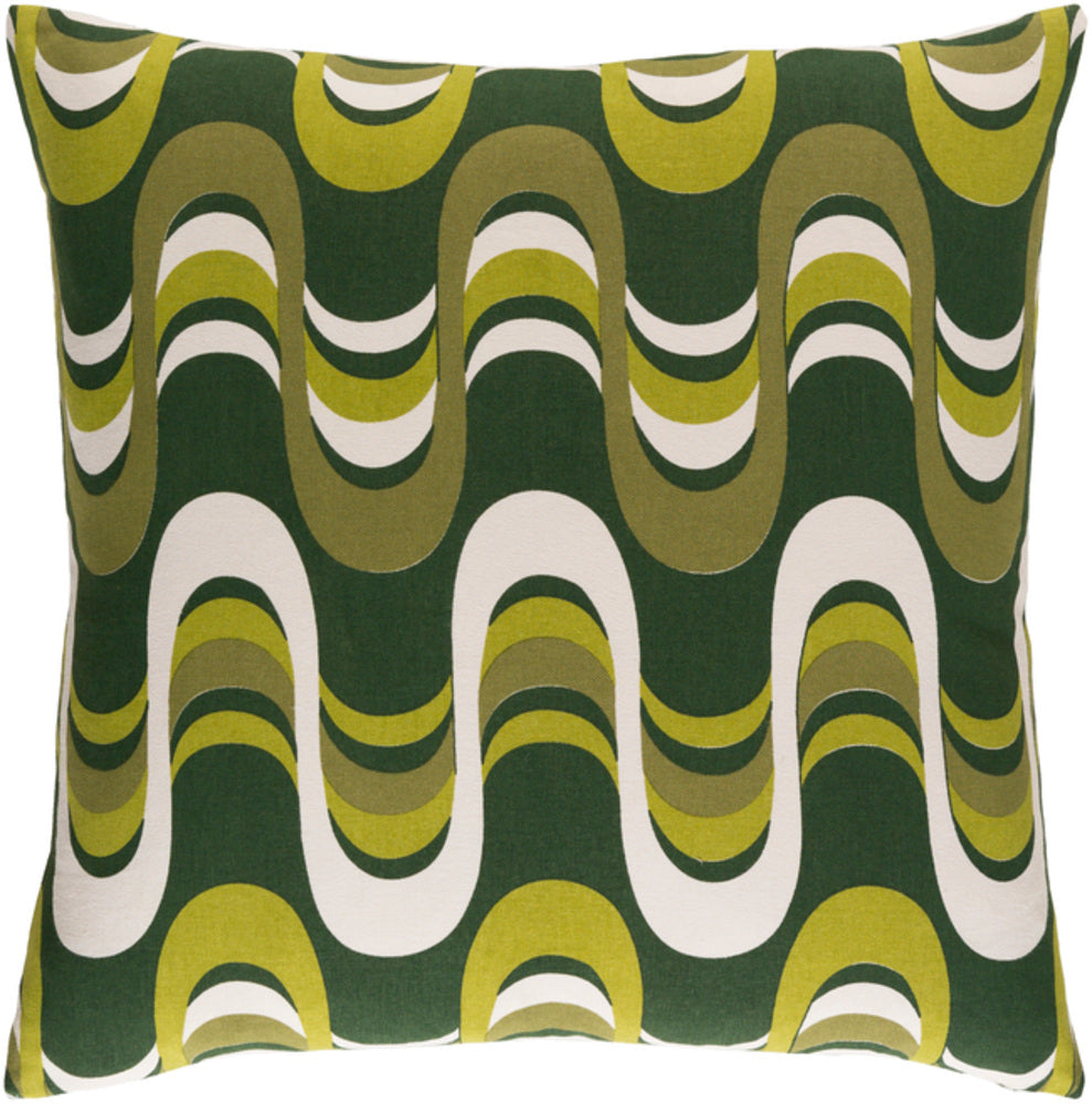 Trudy Pillow Kit - Dark Green, Olive, Lime, Cream - Poly - TRUD7141