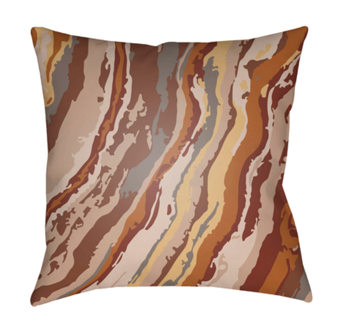 Textures Pillow Cover - Wheat, Bright Red, Mauve, Rust - TX014