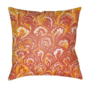 Textures Pillow Cover - Bright Red, Pale Blue, Bright Orange - TX027
